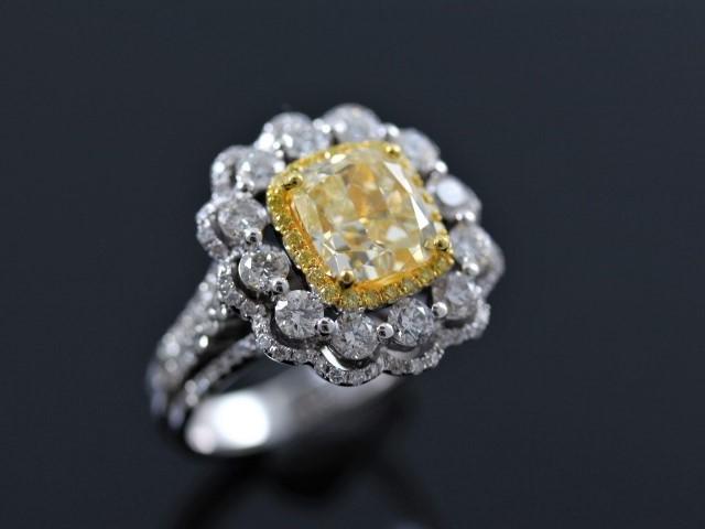 GIA彩鑽戒指 - 3.13ct