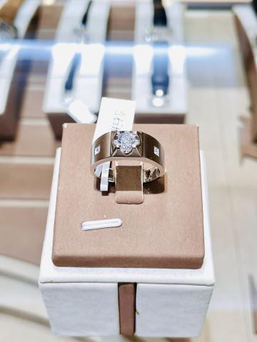 天然鑽石 鑽石戒指 鑽石男戒 18K金材質 40分鑽石 四十分鑽石 八心八箭 重約0.42ct