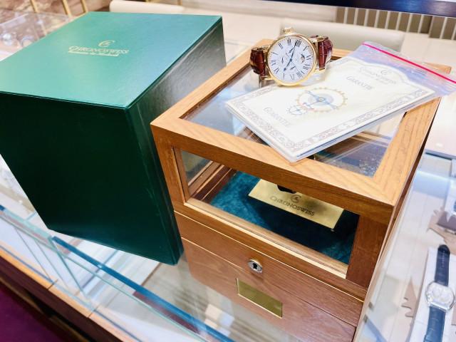 Chronoswiss 瑞寶 CH1721R 萬年曆 月相功能 玫瑰金 40mm 盒單齊全 全新品
