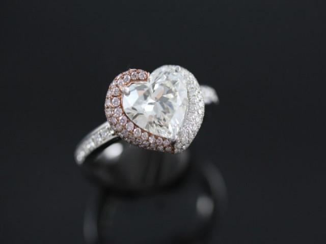 心型鑽石女戒 - 2.40ct E VVS1