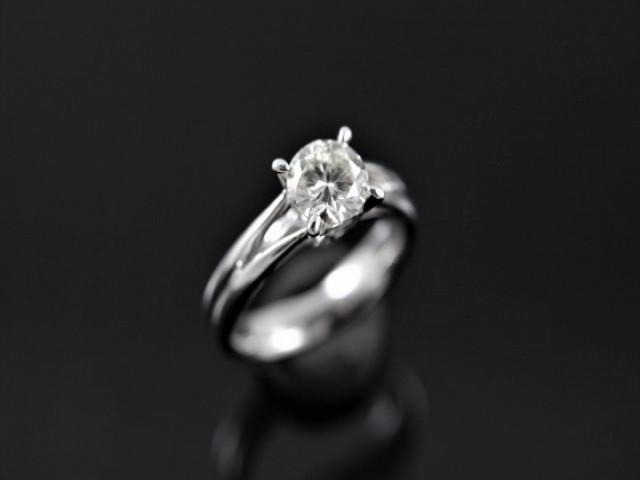 鑽石女戒 - 1.01ct F IF 八心八箭完美車工 永久鑑定書