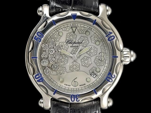 Chopard 蕭邦 蕭邦錶 HAPPY SPORT系列 雪花面盤 夜光時標 38mm 2014年保單